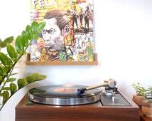 "Brazilian Walnut or Imbuia del Sur Wood Record Display / Now Spinning / Vinyl Shelf / Wall Hanging / Handmade / ""La tablillita"""