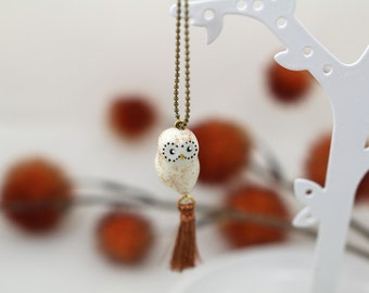 Necklace OWL and her Pompom