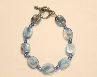 Swirly Blue Bracelet