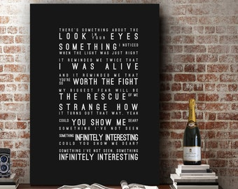 Incubus Echo Inspired Lyrics Music Wall Art Song Lyrics Home Decor Anniversary Gift Wedding Gift Typography Lyric PRINT