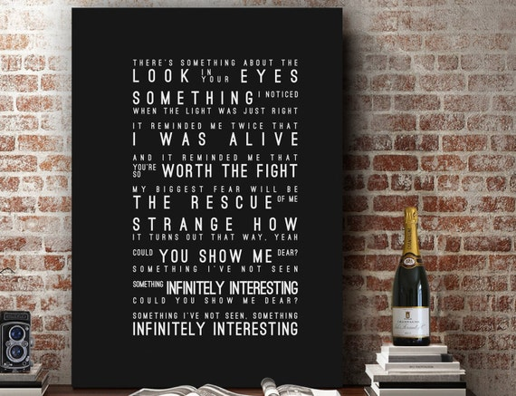 Incubus Echo Inspired Lyrics Music Wall Art Song Lyrics Home