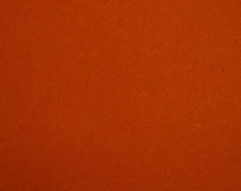22 - Rust - Merino Wool Felt