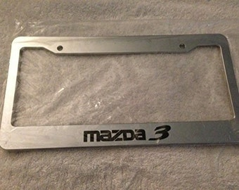 Mazda 3 Racing -  Chrome Automotive License Plate Frame