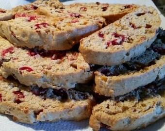 Homemade Cranberry Orange Biscotti - 24 cookies