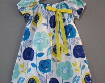 Floral Girl Dress,  Fall Baby dress, Floral Baby Dress, Floral Toddler dress
