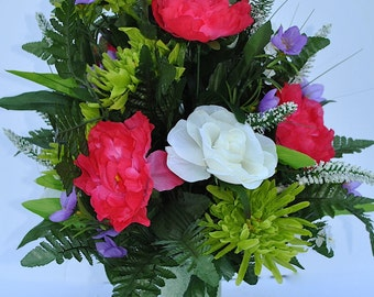 Cemetery vase flowers~cemetery cone~cemetery flowers~grave decorations~gave cone flowers~flowers for graves