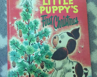 Vintage golden book The Poky Little Puppy's First Christmas