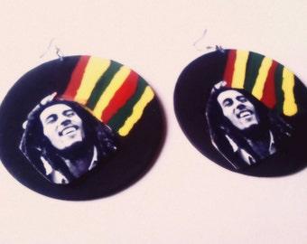 Bob Marley Rasta earrings