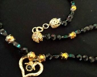 Escada Heart Beaded Necklace