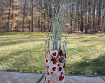 Valentine's Day Vase with Air Plant