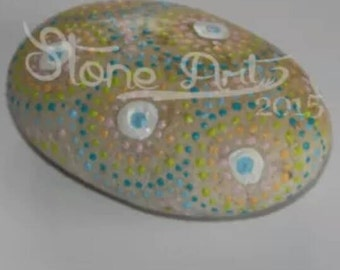 Dotpainting Pebble pastel colored