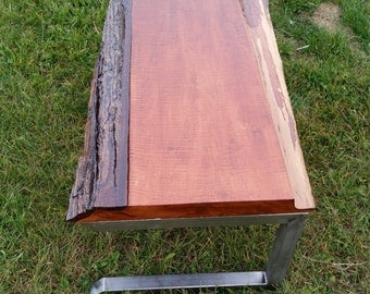 Reclaimed slab wood coffee table