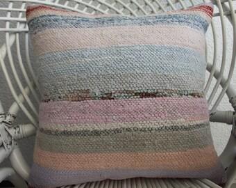 "16""x16 Multicolour Pillow handmade pillow Bohemian Kilim Pillow Throw Pillow vintage kilim pillow Cushion case Decorative Kilim Pillow 924"