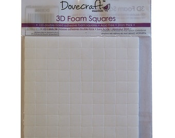 Dovecraft Double Sided Adhesive Glue Foam Squares small 10MM, qty 100