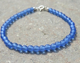 Sea Glass Beaded Bracelet
