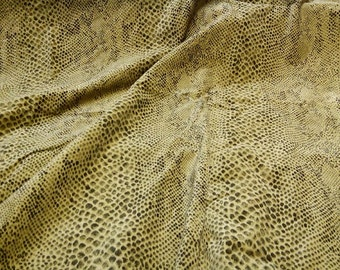 Snake skin Faux Suede Fabric Decorative