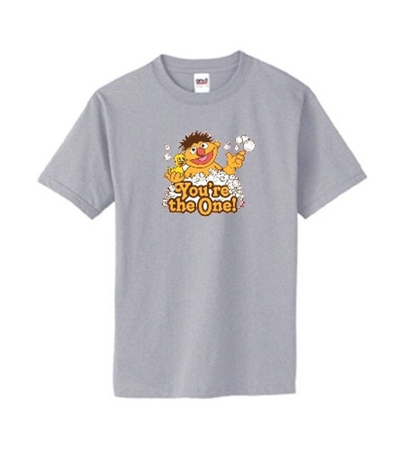 Sesame Street Ernie You're The One Custom T-shirt - Made to Order! Awesome Retro Feel!