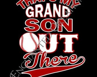 SVG file - Baseball- That's My Grandson