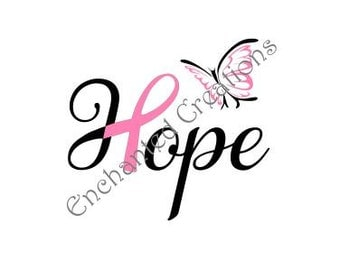SVG/EPS/DXF file - Hope - Cancer Support Ribbon