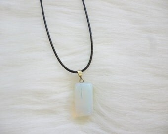 Crystal Necklace - Crystal Choker - Pendant Necklace - Geometric Jewelry -