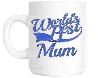 Mum World's Best Blue Mother's Day Novelty Gift Mug shan806