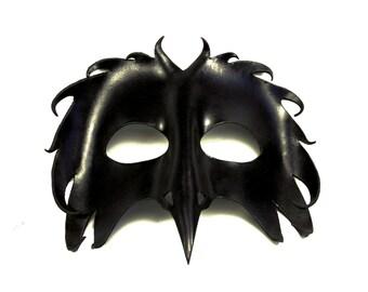 Leather Raven / Bird Mask