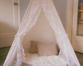 Lace 100% unbleached cotton, children's tent teepee tipi, teepee, play tent, kids gifts, kids play teepee, photo prop, wigwam, playhouse