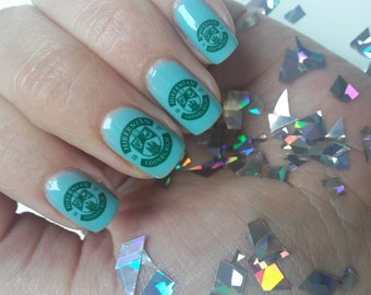 Nail Decals: Sports,MUFC,LFC, US Teams, Any Sport & Any Team! Football,Rugby,Hockey,Athletics,Roller Derby! Made to Order!!