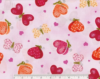 Love Bugs - Per Yd - Hearts on Pink