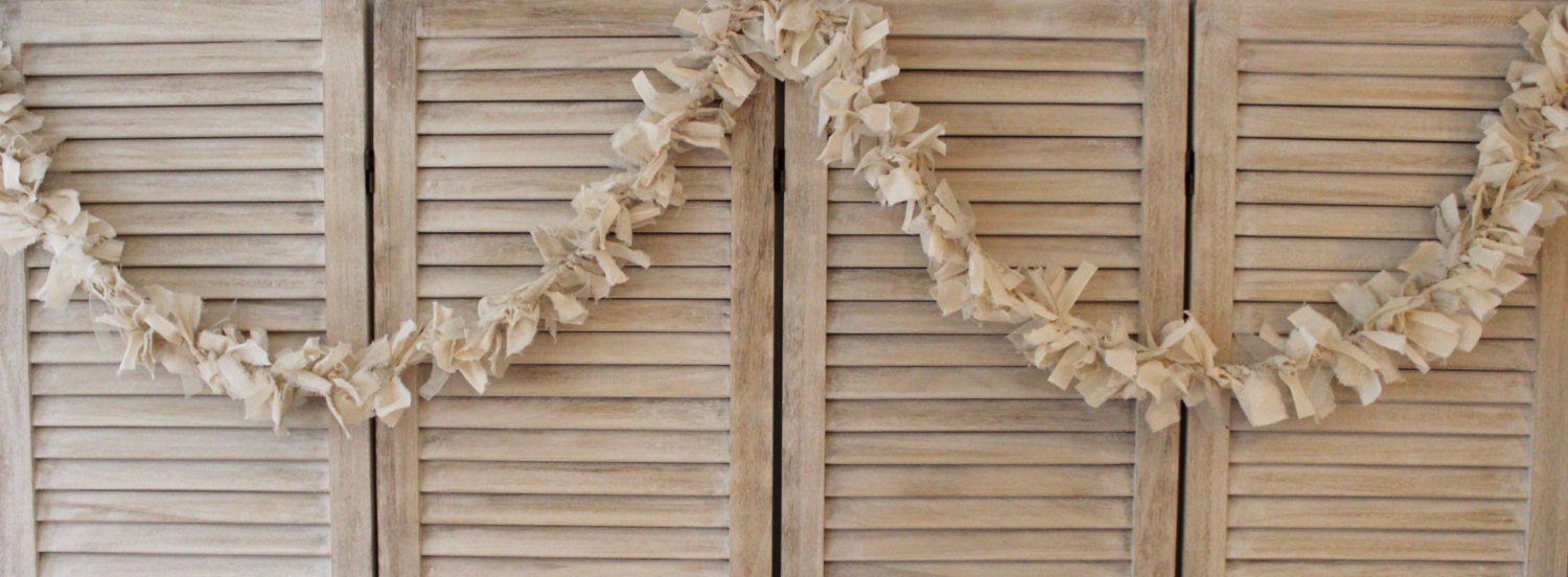 Ethereal Shabby Chic Cream And White Wedding Banner Rustic Wedding