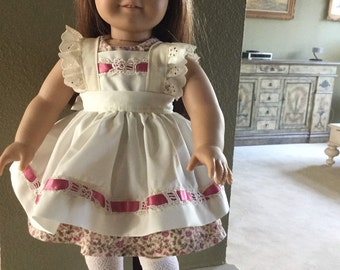 """Dress and Pinafore to fit American Girl 18"""" doll"""