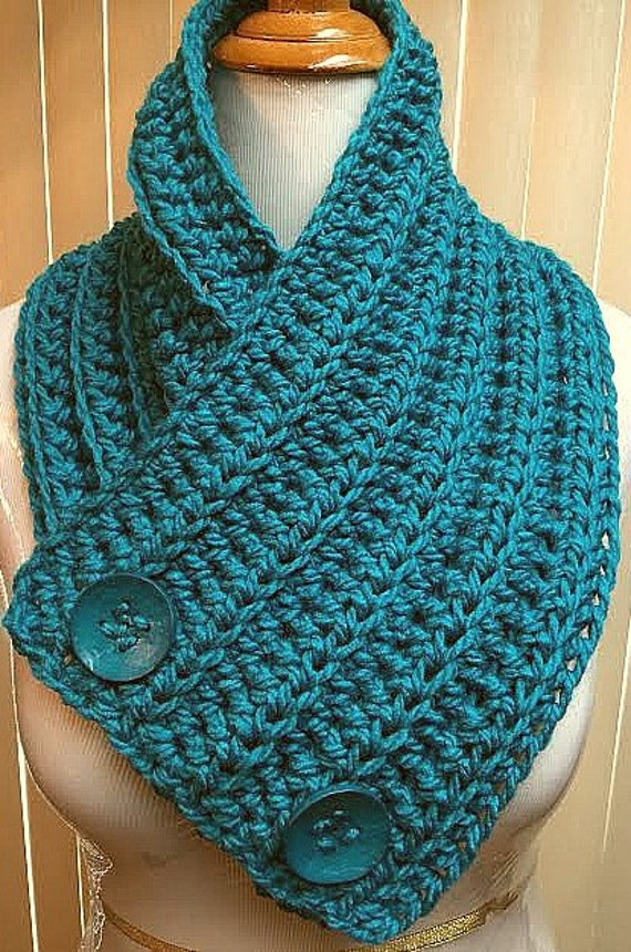 How To Loosen Knitting Stitches : Neck Warmer Scarf Button Scarf Neck Warmer Cowl Crochet