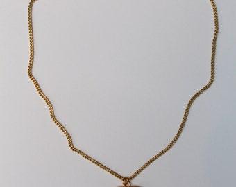 Chanel vintage enameled black short necklace