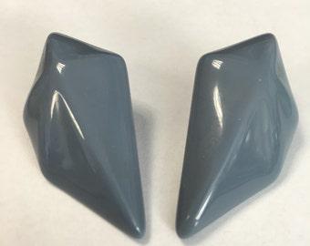 Vintage Plastic Retro Pierced Earrings