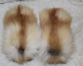 Fox Fur Mittens Fur Gloves  Real fur Hand Mittens Red Fox Fur Present for Her  READY TO SHIP Real Genuine Fur Christmas present
