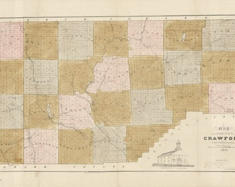 1839 Map of Crawford County Pa