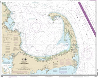 2013 Nautical Chart Map of Cape Cod Bay Massachusetts