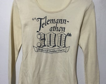 70's vintage long sleeve t shirt 50/50 made in usa size XL