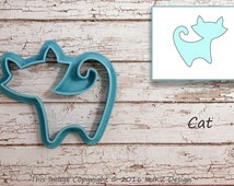 Cat cookie cutter / Cookie cutter cat / Cookie cutter kitty / Kitty cookie cutter / Animals cookie cutter / fondant cutter