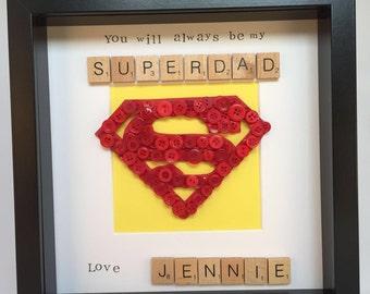 Dad, Daddy Hero Button Art Frame