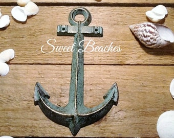 Cast Iron Anchor Weather Patina Look  Beach Seaside Nautical Wall  Decor