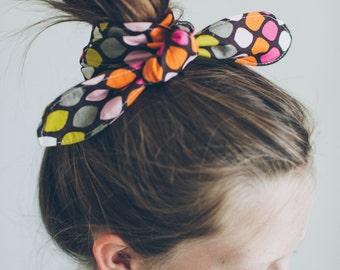 Colorful Leaf Fabric Tie Headband
