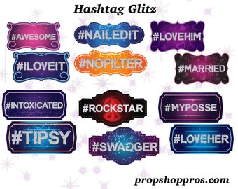 Hashtag Props | Hashtag Signs | Photo Booth Props | Prop Signs