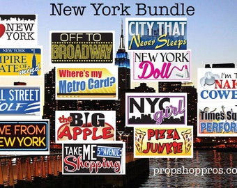 New York City Props | New York City Signs | Photo Booth Props | Prop Signs