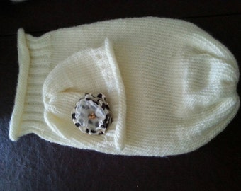 Handmade knitted Baby cocoon