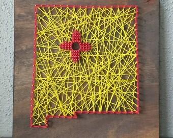 Custom State String Art - New Mexico