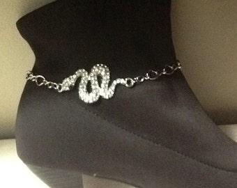 Boot Bracelet, Snake Bling