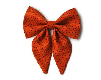Dog bow in Orange dots