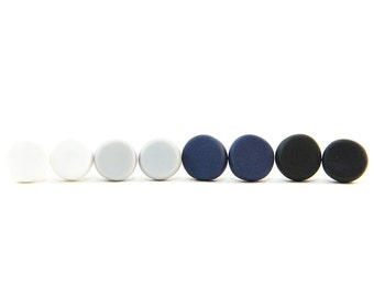 CIRCLE Polymer Clay Earring Studs - BASICS
