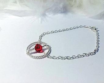 Silver bracelet and Pearl Swarowski grenå